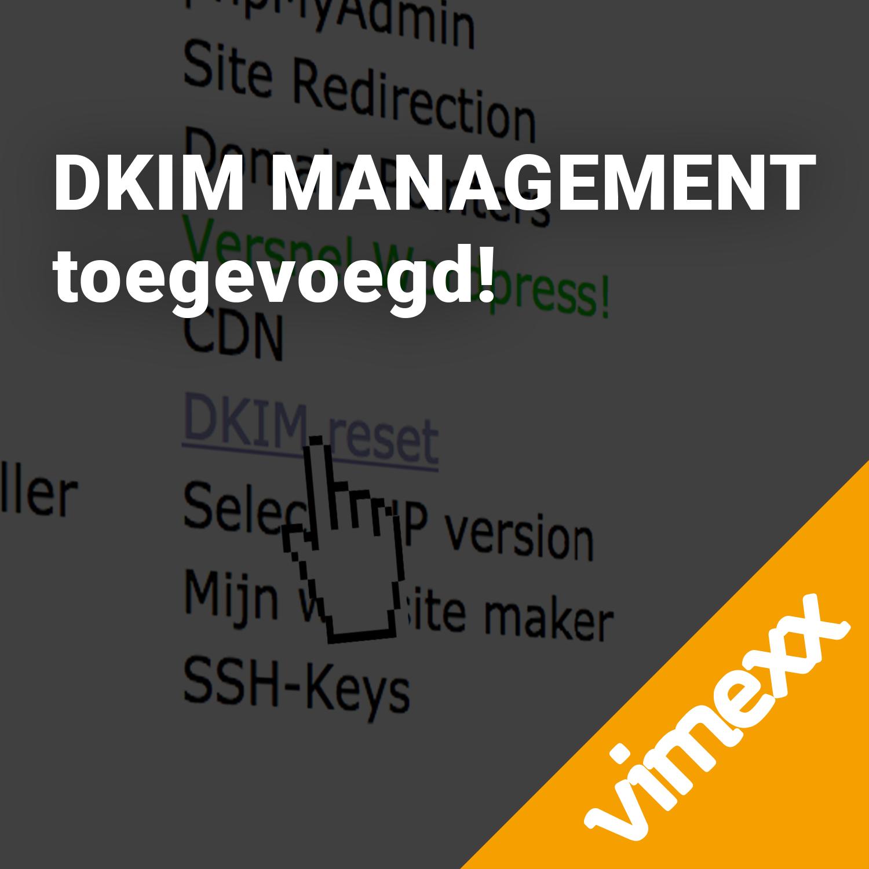 DKIM management DirectAdmin