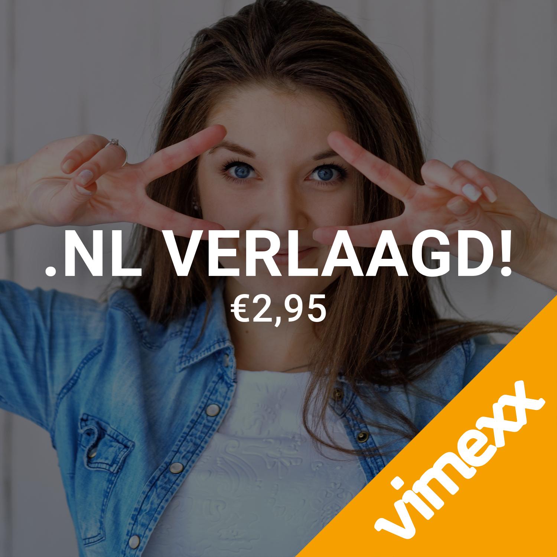 .NL domeinnaam voor €2,89 per jaar.